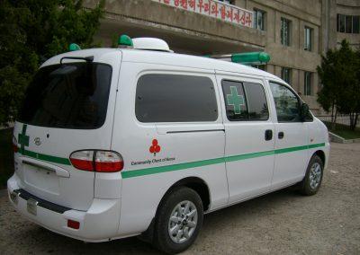 2007.05.21 회령산원에 도착한 사회복지공동모금회 지원 엠뷸런스-2