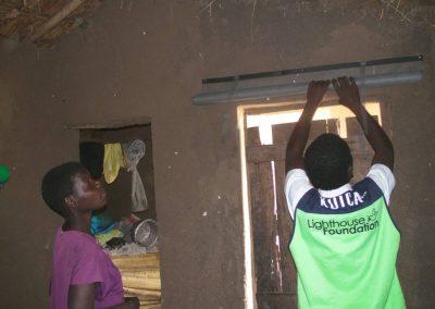 2017.10.31 말라리아 예방을 위한 스크린 모기장(SMnet) 설치현장