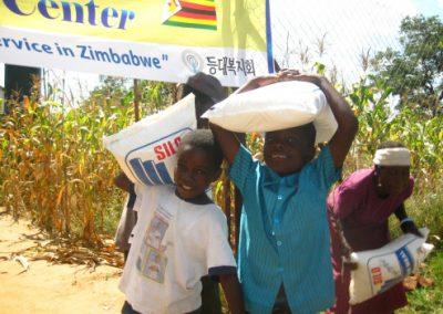 빈곤환자 식량 분배 2011.04