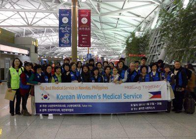 제2차 등대복지회-한국여의사회 해외의료봉사 출발전 2012.01
