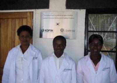 짐바브웨 등대 보건소 의료진 2011.06