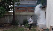 씨엠립의 방역 작업 중인 학교 모습 2020.11