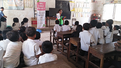초등학교 구강보건 교육에 참여한 아동들 2016.07
