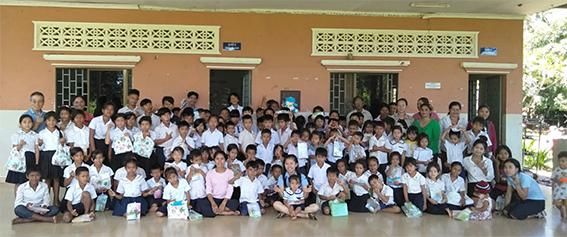 캄보디아 복끄롤란 유치원 아동들 2019.07
